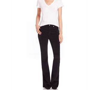 7 For All Mankind  Black Corduroy Flare Jeans